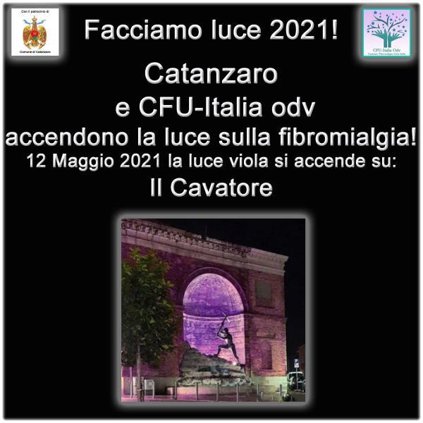 """images Concolino: """"Domani sera il Cavatore sarà illuminato di viola per la giornata contro la fibromialgia"""""""