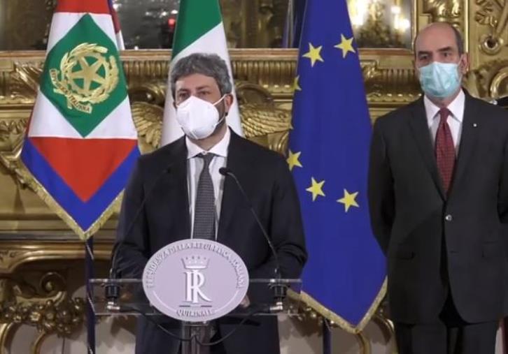 """images Crisi di governo. Fallisce la trattativa delle vecchia maggioranza, Fico: """"Non unanime disponibilità"""""""