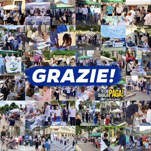 images Referendum giustizia. Continua con successo la raccolta firme organizzata dalla Lega
