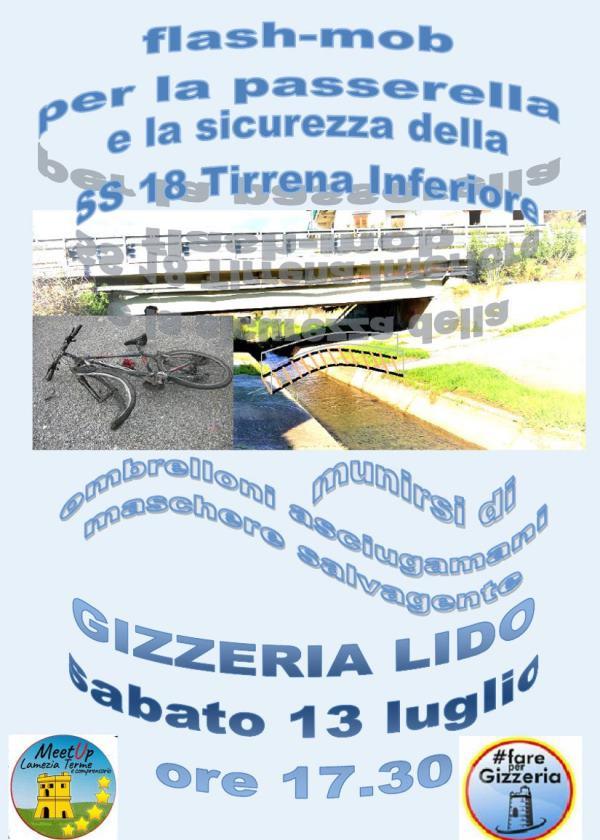 images Ponte tra Gizzeria Lido e Lamezia, flash-mob per la passerella