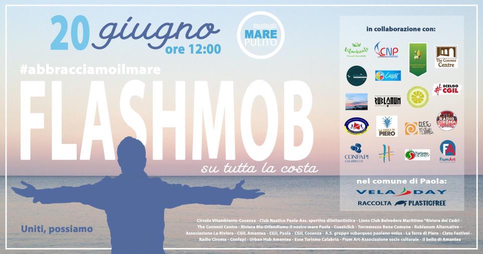 """images  Paola. Sul Tirreno cosentino domenica il flashmob """"#abbracciamoilmare"""""""