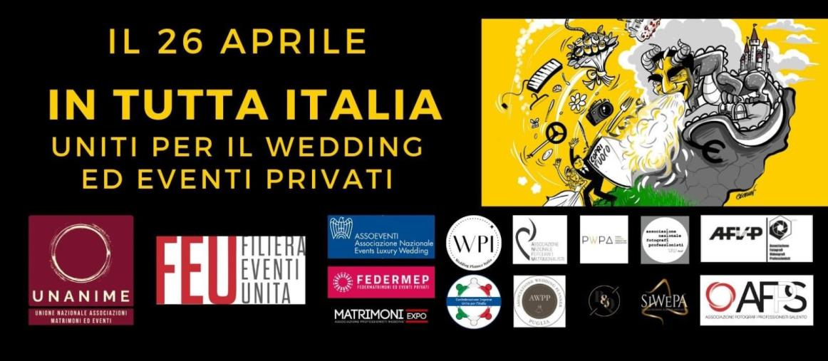 images Anche a Catanzaro protestano le imprese di matrimoni ed eventi: lunedì flashmob a piazza Matteotti