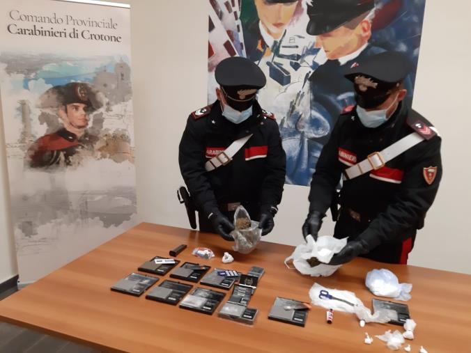 images Crotone. Controllo straordinario sul territorio: due arresti, sette denunce e  sequestrati 434 grammi di sostanza stupefacente