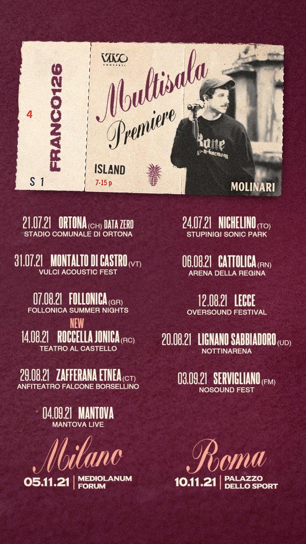 images Roccella Summer Festival: al cartellone si aggiunge il concerto del rapper romano Franco126