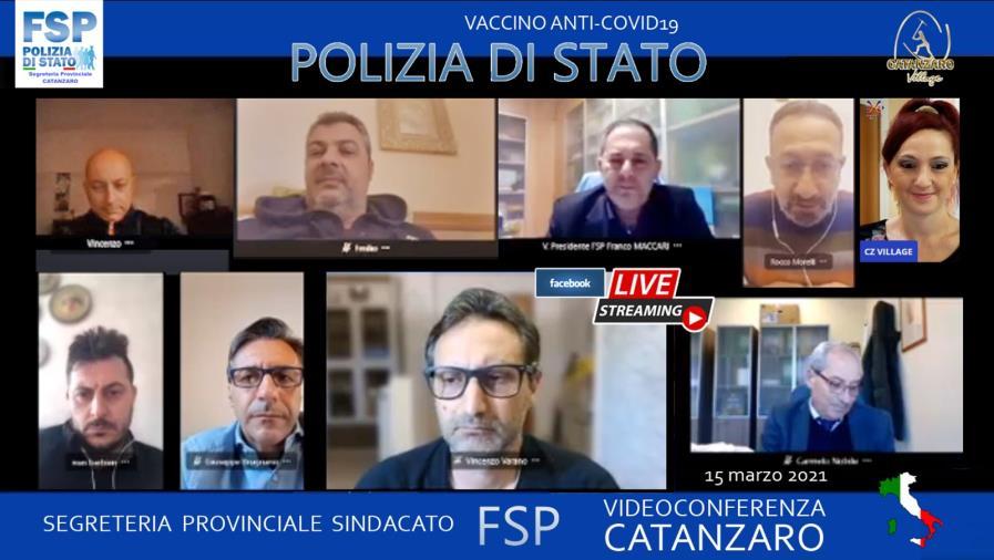 images Vaccini. Il sindacato di polizia Fsp a confronto in live streaming su Catanzaro Village