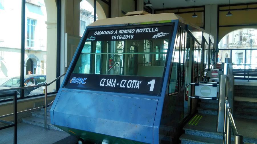 """images Riparte la funicolare di Catanzaro, Abramo: """"E' un impianto tutto nuovo"""" (FOTO)"""