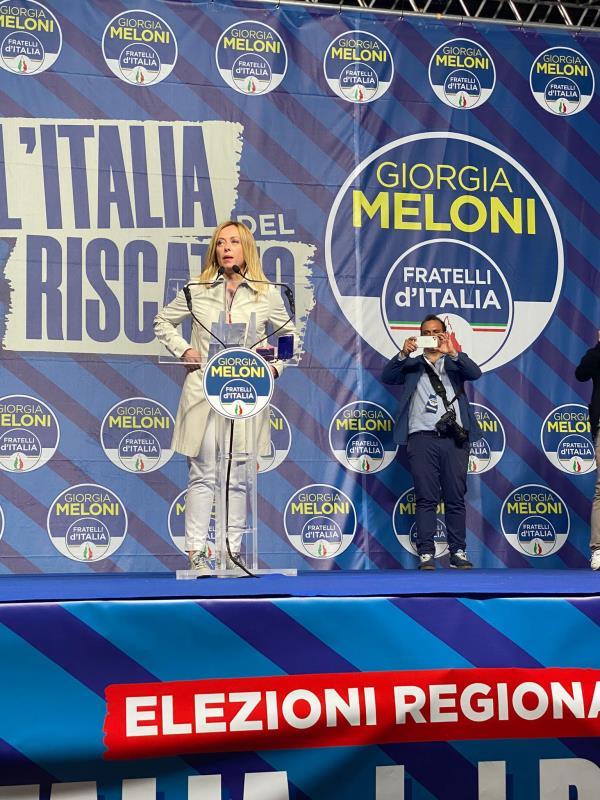 """images Regionali. Meloni frena sul ticket Occhiuto-Spirlì: """"Queste cose dopo le elezioni"""""""