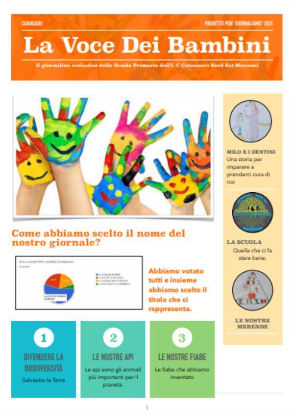 """images """"La voce dei bambini"""", il giornalino scolastico creato dagli studenti dell'Ic Nord-Est Manzoni di Catanzaro"""