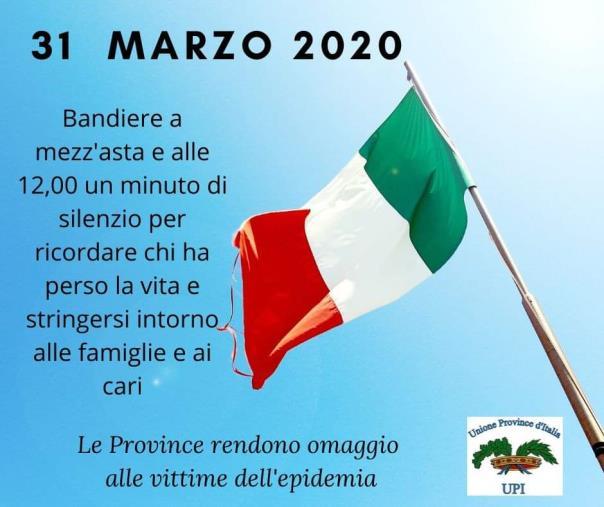 images Coronavirus. Il 31 marzo la Provincia di Catanzaro aderirà alla Giornata in ricordo delle vittime della pandemia
