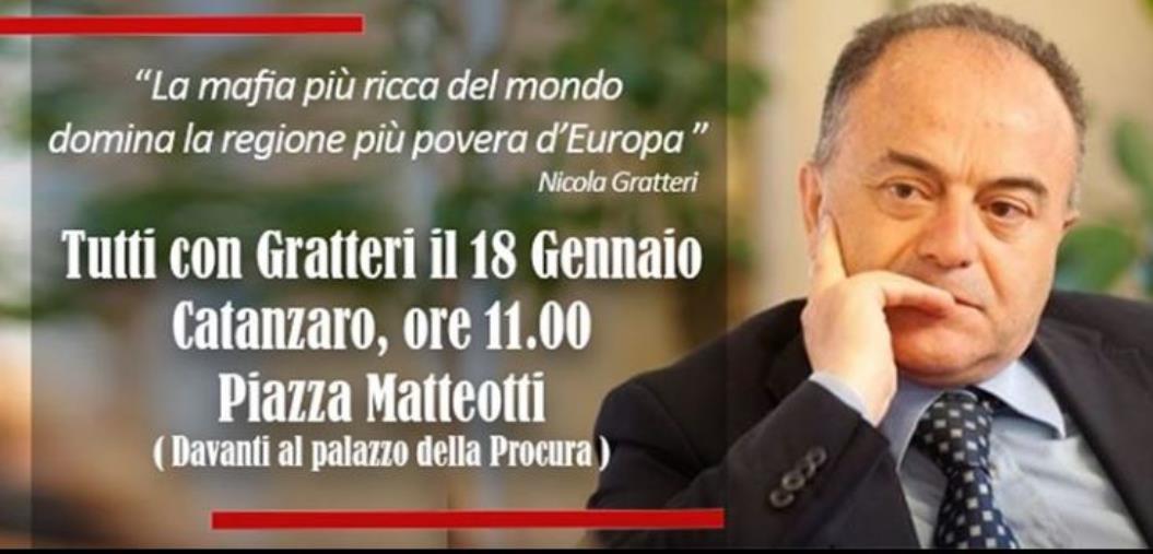 """images Parte la mobilitazione: """"Tutti con Gratteri"""". Fra due settimane in piazza a Catanzaro"""