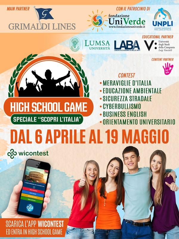 """images Al via la IX edizione di """"High School Game-Speciale Scopri l'Italia"""": un quiz che abbatte le distanze e fa viaggiare i ragazzi"""
