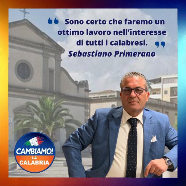 """images Il reggino Sebastiano Primerano nominato vicecoordinatore provinciale di """"Cambiamo! La Calabria"""""""