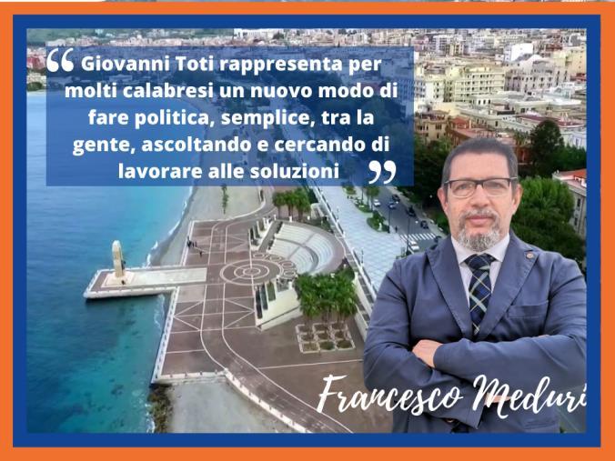 """images Reggio. Toti in Calabria, Meduri: """"Un nuovo modo di fare politica, semplice e tra la gente"""""""