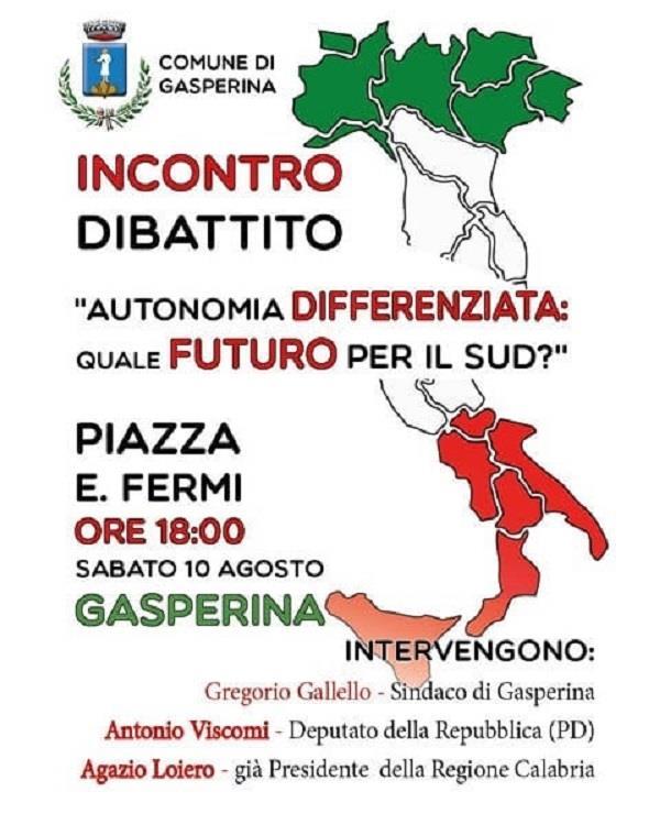images Autonomia differenziata, se ne parlerà sabato a Gasperina