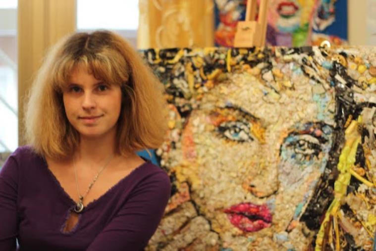 images Coronavirus. L'artista Lady Be raccoglie 6500 € con un'asta on line di opere realizzate a Catanzaro per gli ospedali del centro nord