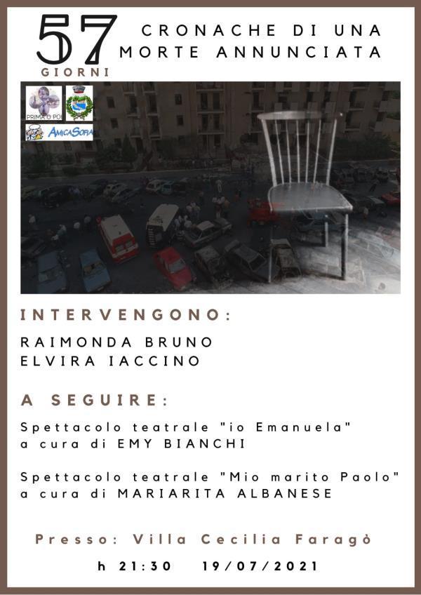 images Soveria Simeri. Il 19 luglio si rinnova l'impegno in ricordo del giudice Borsellino