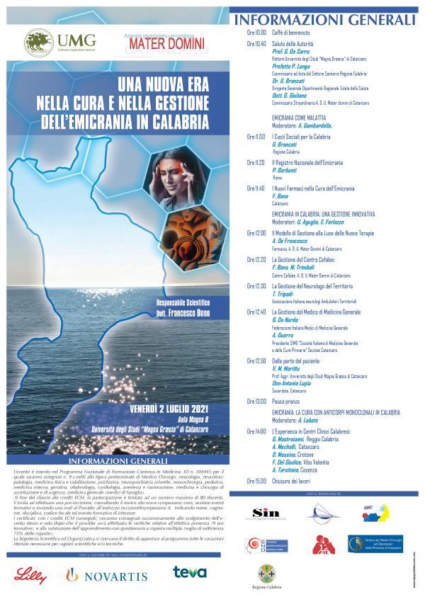 images Salute. Una nuova era per gestione e cura dell'emicrania in Calabria. Il 2 luglio un convegno a Catanzaro
