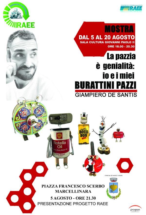 """images Marcellinara. Domani l'inaugurazione della mostra """"Burattini pazzi: la pazzia è genialità"""""""