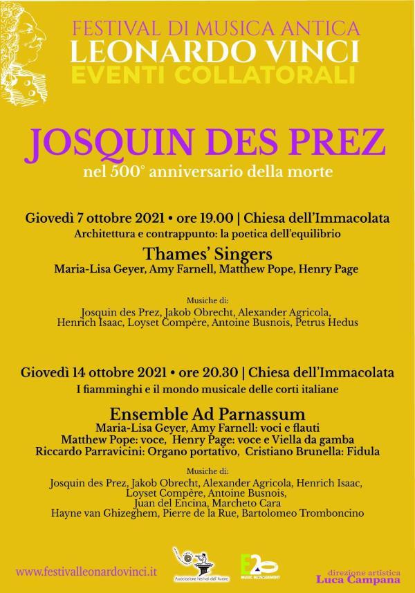 images A Crotone due concerti per celebrare il genio musicale di Josquin des Prez