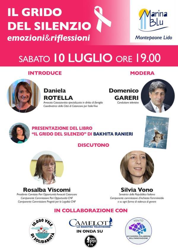 """images  """"Il grido del silenzio, emozioni & riflessioni"""", l'incontro a Montepaone sulla violenza sulle donne"""