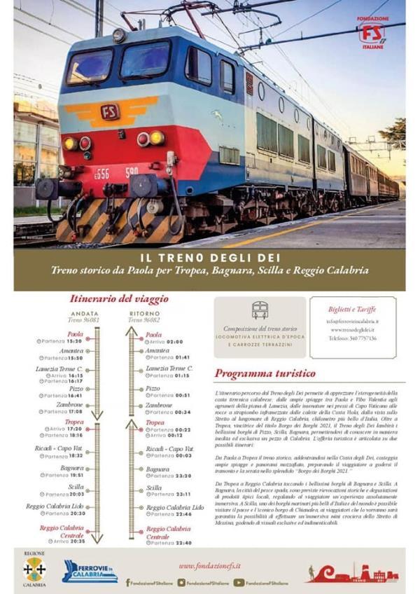 """images L'associazione Ferrovie in Calabria: """"Parte il treno degli dei, una nuova opportunità di turismo"""""""