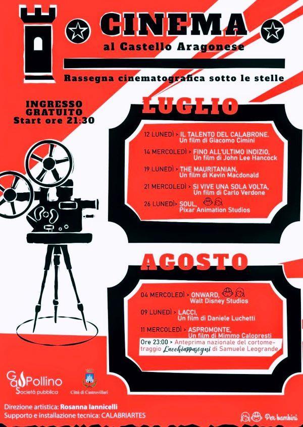 images Castrovillari. Cinema, dal 12 luglio al Castello Aragonese la rassegna sotto le stelle