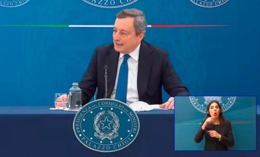 """images Nuovo decreto. Draghi: """"Dopo Pasqua scuole aperte fino alla prima media"""""""