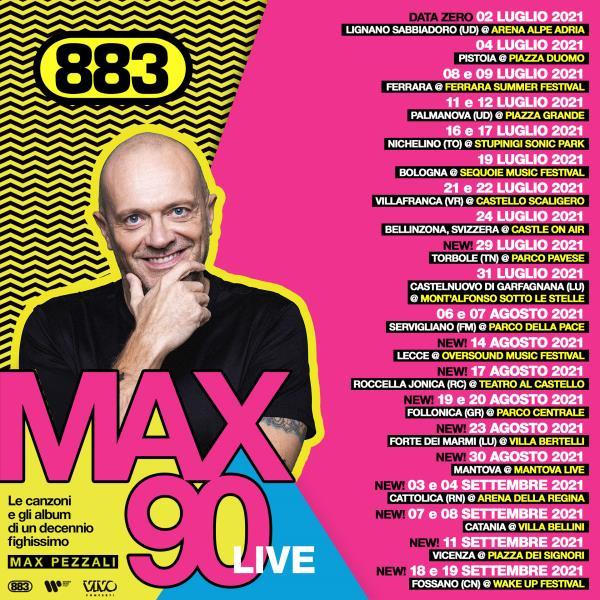 images Roccella Summer Festival, il 17 agosto al Teatro al Castello ci sarà il concerto di Max Pezzali