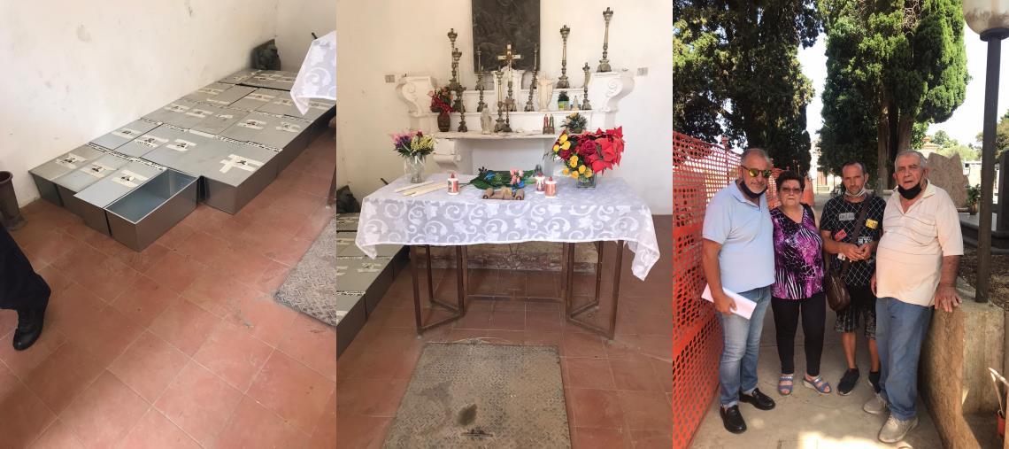 """images Caso esumazioni al cimitero di Girifalco. Dopo il sopralluogo  con il sindaco, Sergio Costanzo: """"Restituita un po' di dignità al luogo sacro"""""""
