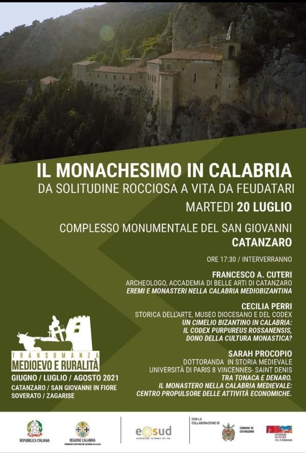 """images Nuovo appuntamento con """"Transumanza. Medioevo e ruralità"""": domani al San Giovanni focus sul Monachesimo in Calabria"""