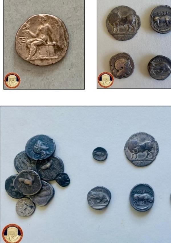 images Oltre 660 monete, bracciali, punte di lancia e anelli restituiti al Parco Archeologico di Sibari dai carabinieri per la Tutela del Patrimonio culturale
