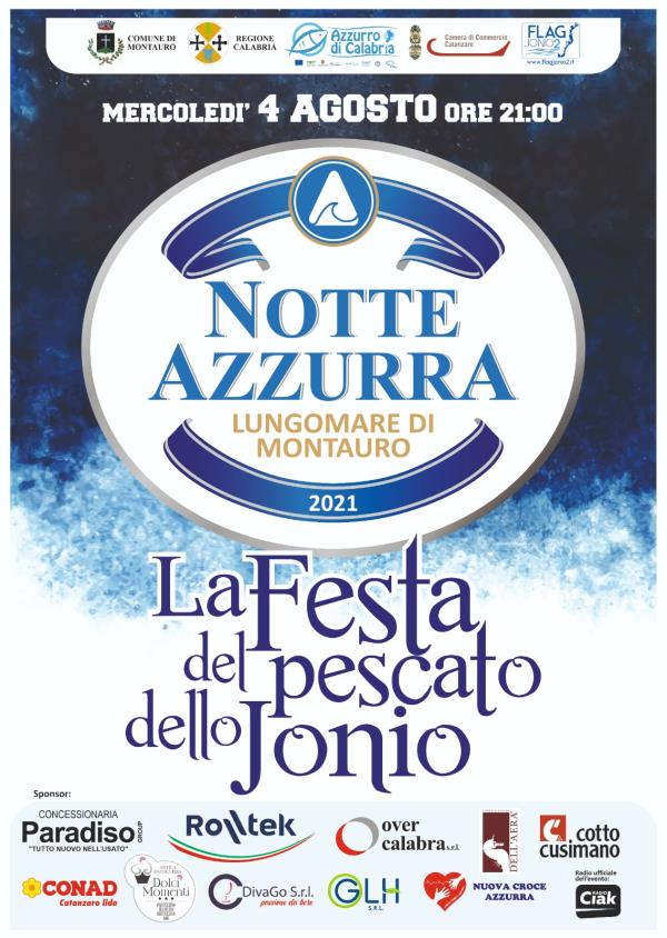 """images Il lungomare di Montauro ospita la """"Notte Azzurra"""", la prima festa sul pescato dello Jonio"""