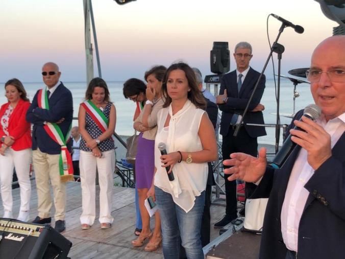images Oliverio all'inaugurazione del lungomare di Siderno