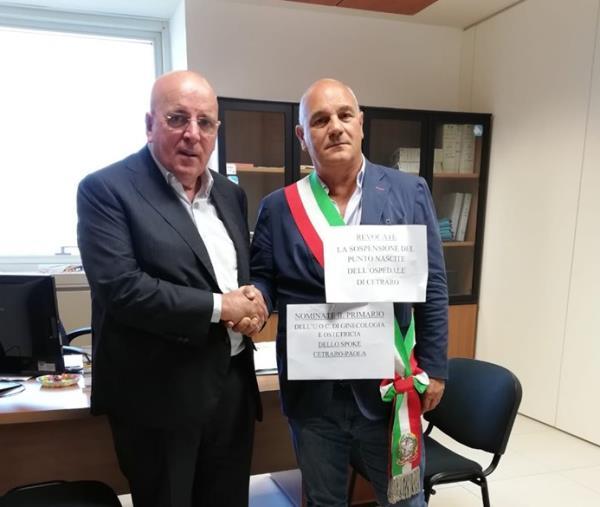 images Punto nascita di Cetraro, la protesta in Regione del sindaco Aita. Fissato incontro con Cotticelli