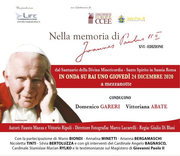"""images """"Nella Memoria di Giovanni Paolo II"""", la XVI edizione andrà in onda questa sera su Rai1"""