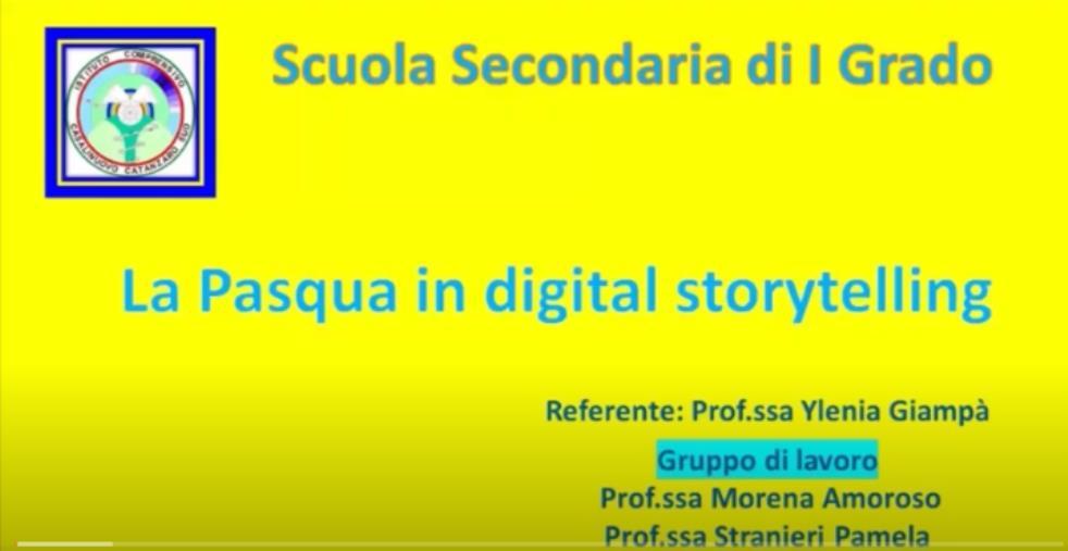 images Pasqua 2021. Gli alunni dell'Ic Casalinuovo di Catanzaro la celebrano con un digital storytelling