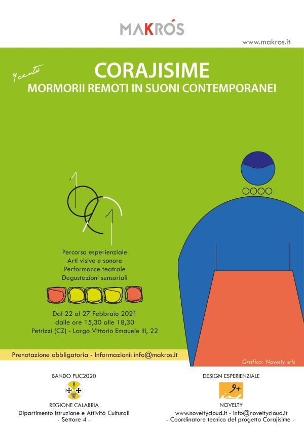 """images Con il progetto """"Corajisime - Mormorii remoti in suoni  contemporanei"""" Petrizzi riscopre le sue tradizioni"""