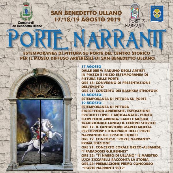 """images """"Porte Narranti"""" per salvare i centri storici. San Benedetto Ullano in fermento"""