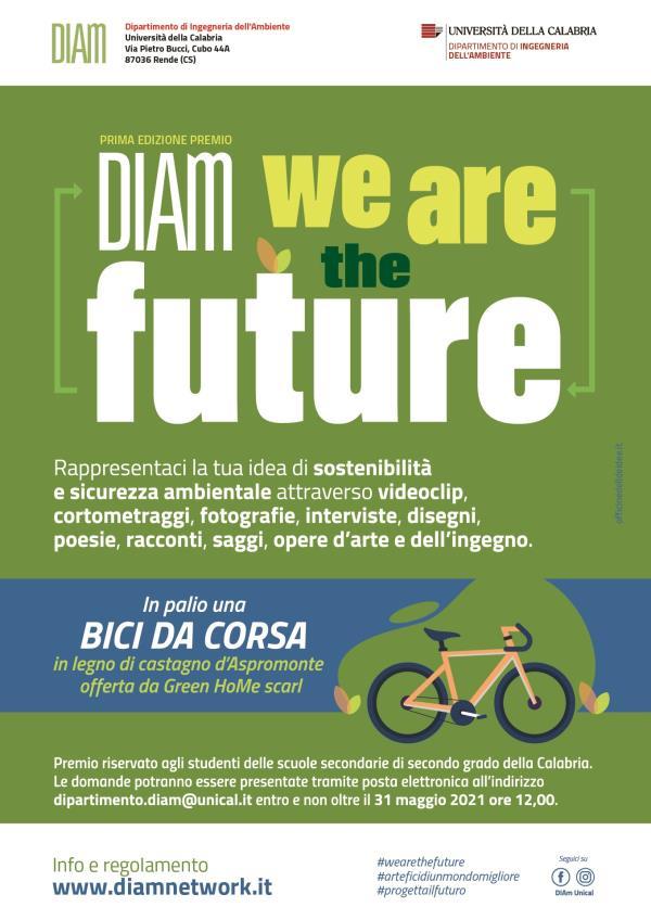 """images Unical. Prima edizione del premio """"Diam – We are the future"""" per studenti delle scuole secondarie di secondo grado"""