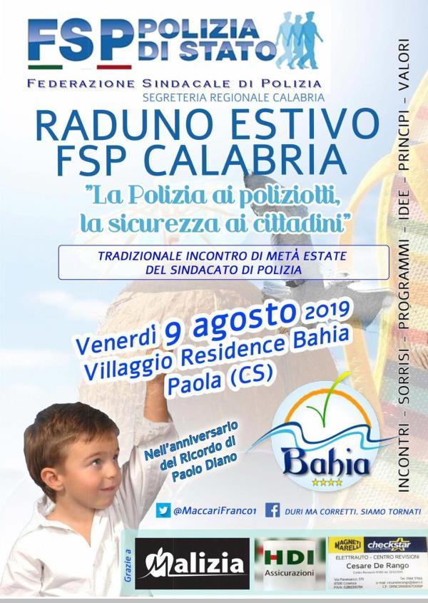 images Il raduno estivo della Federazione sindacale della Polizia si svolgerà a Paola