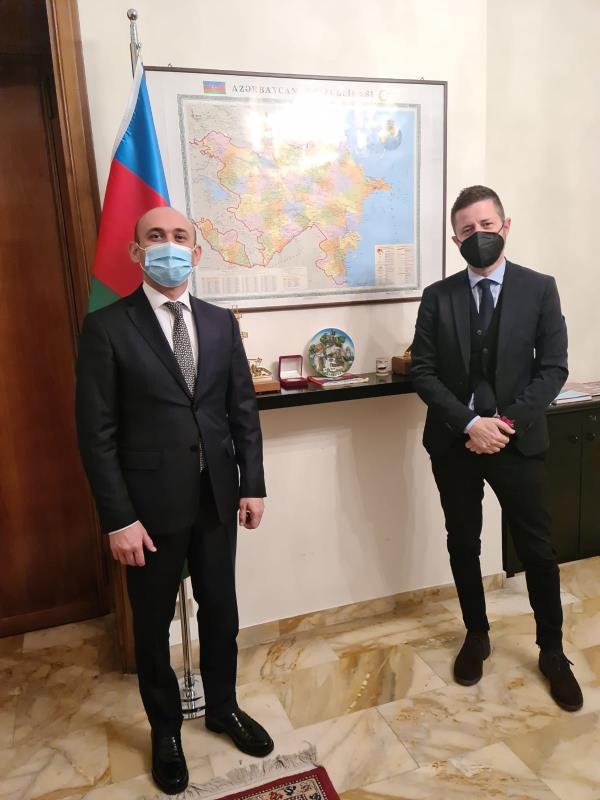 images Catanzaro. Il presidente della Camera di commercio ha incontrato a Roma l'ambasciatore dell'Azerbaijan in Italia