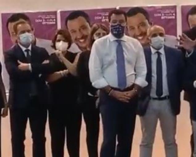 """images Regionali. Salvini: """"A sinistra disperati perché perderanno di oltre 20 punti. Obiettivo Lega primo partito centrodestra"""""""