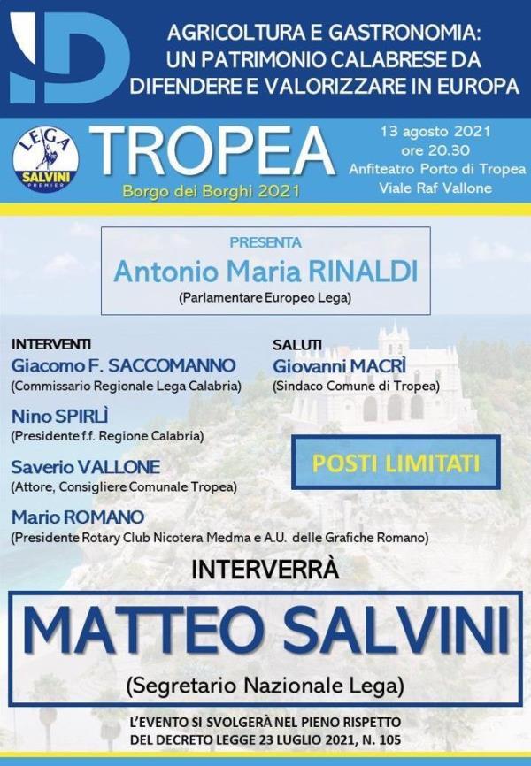images Matteo Salvini atteso in Calabria: venerdì 13 agosto sarà a Tropea