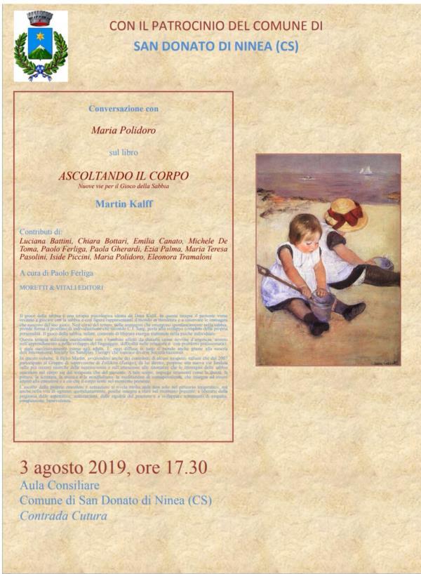 images La terapia della sabbia al centro di un evento culturale a San Donato