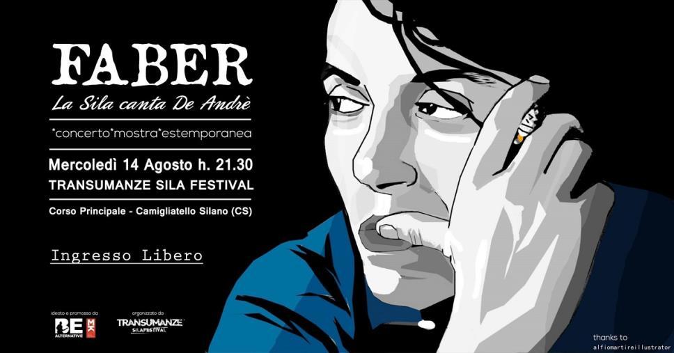 images Musica e arte in onore a De Andrè, a Camigliatello il 14 agosto