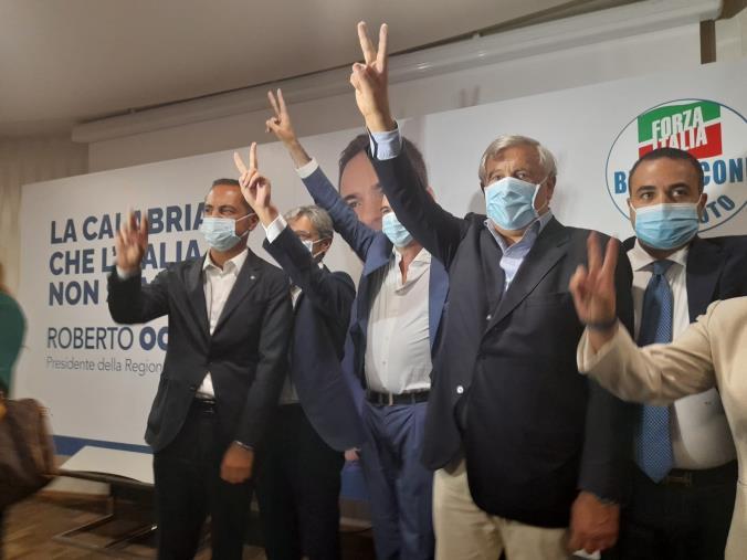 """images I vertici di Forza Italia in Calabria a sostegno di Occhiuto. Tajani: """"E' il candidato migliore"""""""
