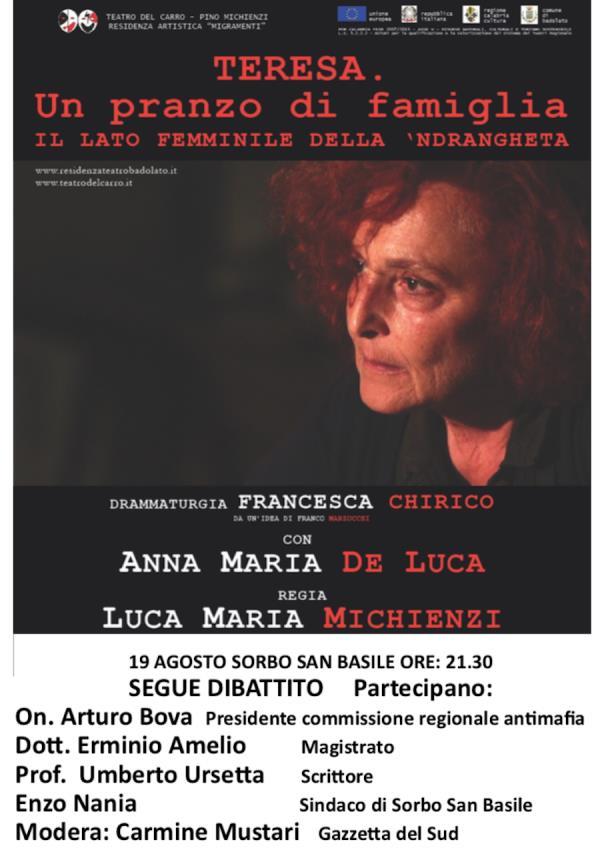 images Le donne di 'ndrangheta, stasera spettacolo e dibattito a Badolato