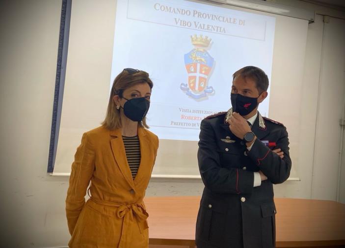 Il prefetto di Vibo Valentia in visita al comando provinciale dei Carabinieri