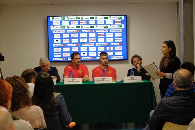 Tonno Callipo, il  tecnico D'Amico e il libero Rizzo  si presentano al pubblico giallorosso