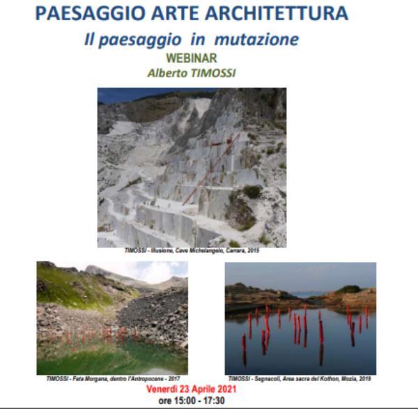 images Catanzaro. L'artista Timossi parlerà del paesaggio in mutazione nel webinar dell'Accademia di Belle Arti e dell'Ordine degli Architetti
